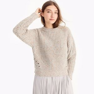 NWT J Crew Point Sur Chunky Crewneck Sweater